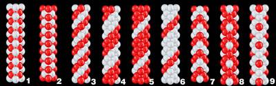 Ballon Girlande Luftballon Muster verschiedene Arten Ballongirlande Firma Event Jubiläum