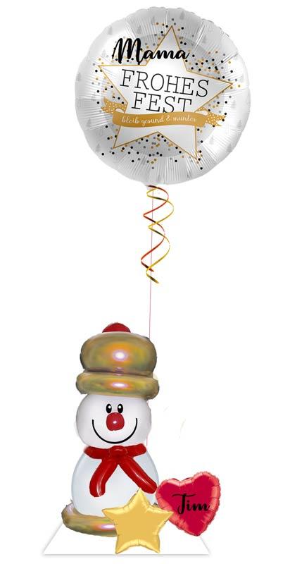 Ballon Luftballon Heliumballon Deko Dekoration Überraschung Mitbringsel Ballonpost Ballongruß Versand verschicken Helium Mädchen Junge  mit Namen personalisiert Personalisierung Geschenk Idee Ballonpost Weihnachten Frohes Fest bleib gesund & munter
