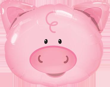 Folienballon Ballon Luftballon Silvester Neujahr Schwein Glücksschwein Geburtstag