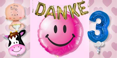 Ballon Luftballon Versand Heliumballon Folienballon Zahl Buchstabe Tier Baby Geburtstag Hochzeit Kommunion Smiley Danke Kuh 3