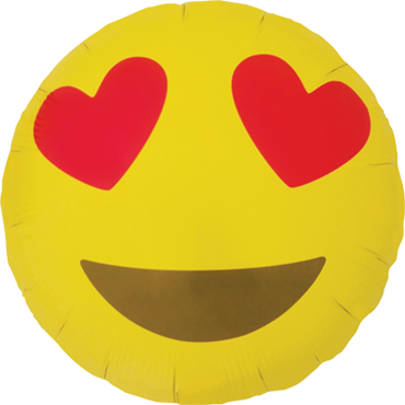 Emoji  Luftballon Ballon Folienballon Heliumballon Heart Eyes