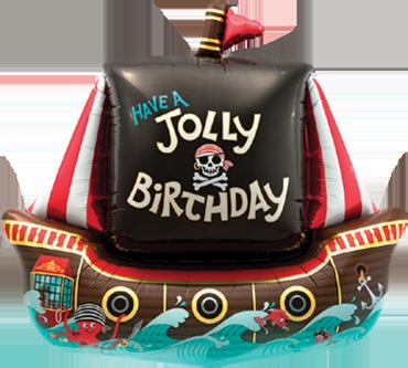 Pirat Piratenschiff Schiff Segelschiff Luftballon Ballon Folienballon Geschenk Junge Geburtstag Geburtstagsparty Feier Überraschung Helium Versand Kindergeburtstag