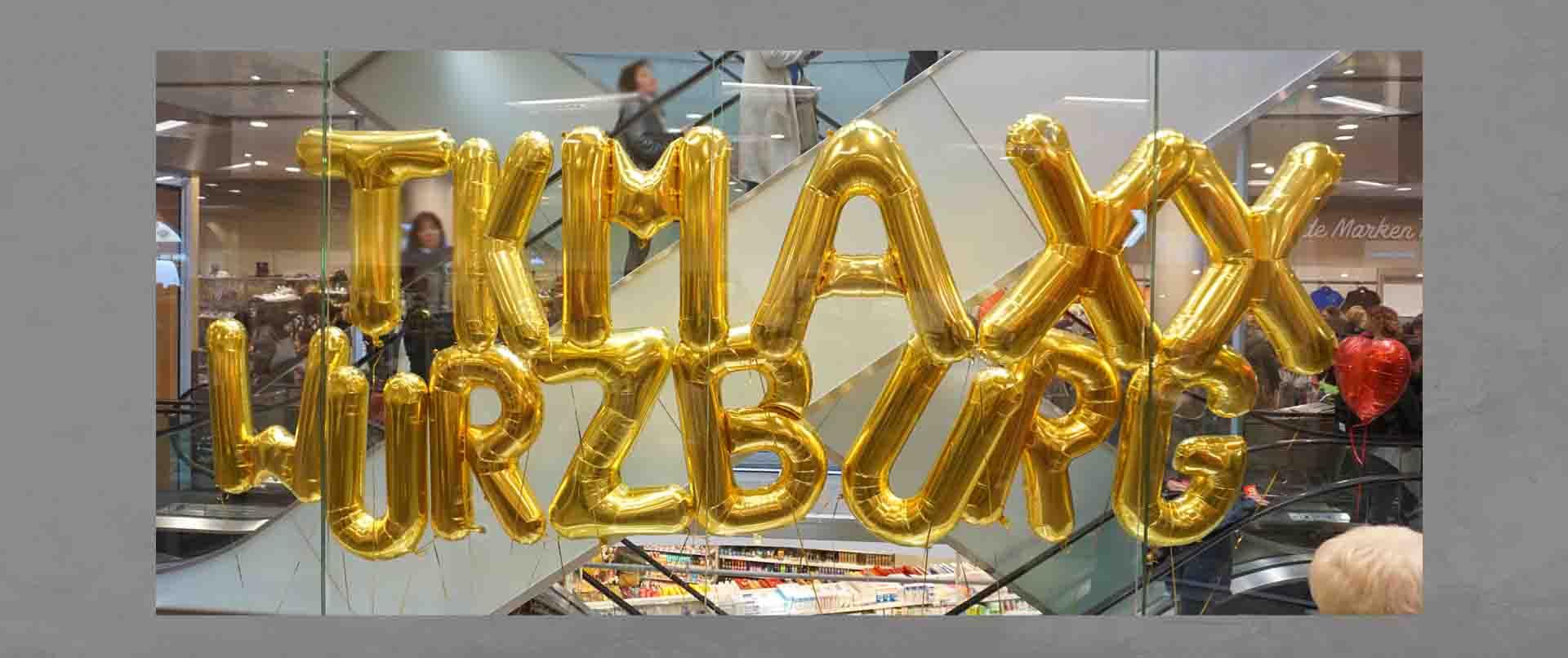 Luftballon-Dekoration Neueröffnung TKMAXX Würzburg
