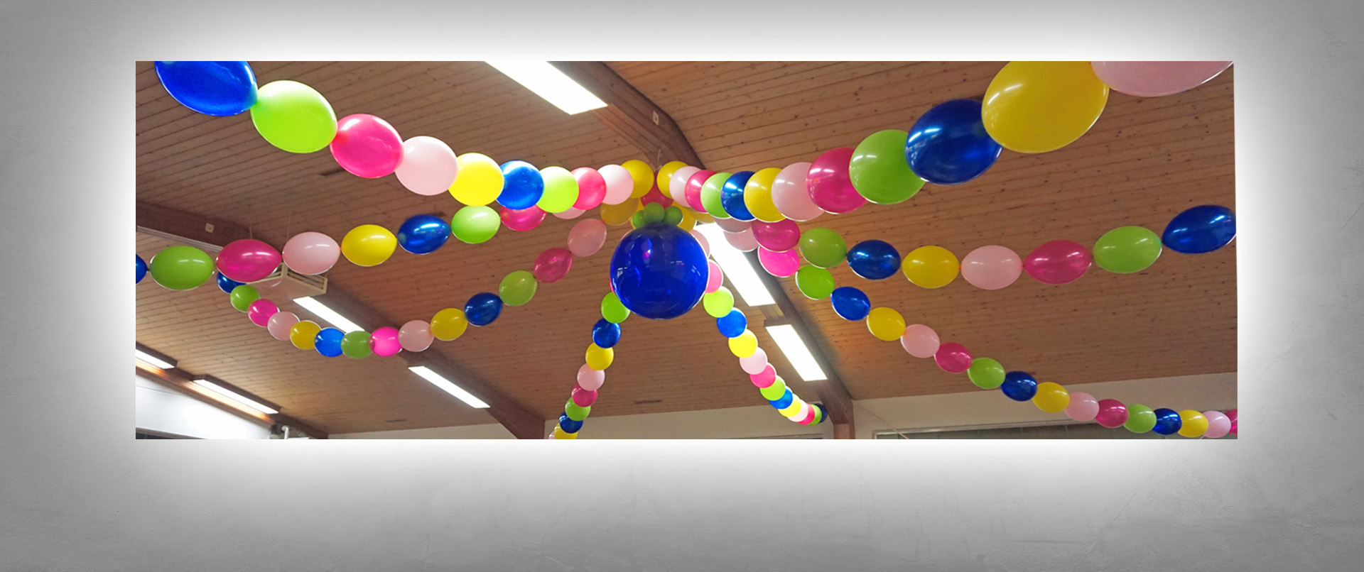 Luftballon-Dekoration Faschingssitzung NCZ Zimmern