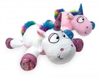 Kuscheltier Teddy Plüsch Plüschtier Einhorn Unicorn glitzer comic style Hufe Geschenk Geburtstag Überraschung Kindergeburtstag Mitbringsel Mädchen rosa lila gild silber weiß pink