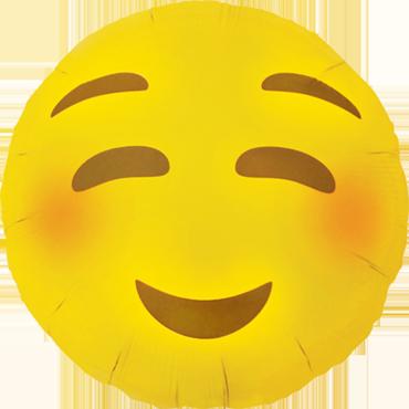 Emoji Blushing Luftballon Ballon Folienballon Heliumballon