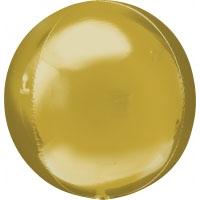 Folienballon Kugel Orbz Filienkugel Ballon Heliumballon Silvester Party gold