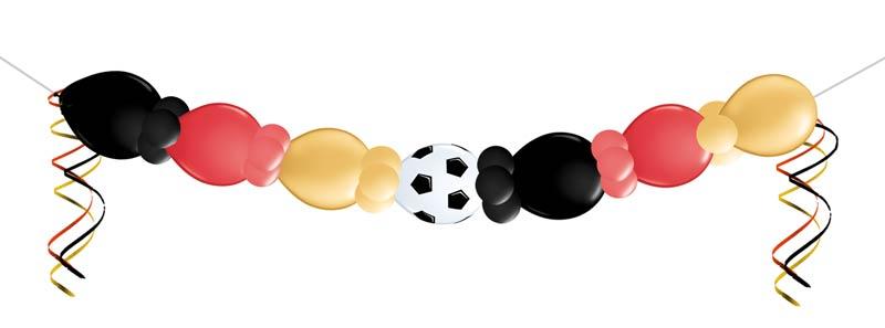Ballon Luftballon Girlande Fußball Deutschland WM schwarz rot gold Versand Ballonpost Paket Deko Dekoration Weltmeisterschaft