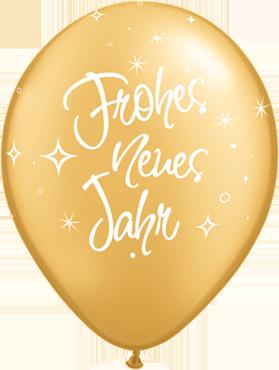 Folienballon Ballon Luftballon Silvester Neujahr Frohes neues Jahr Latexballon Heliumballon