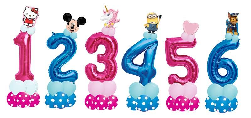 Luftballon Ballon Folienballon Zahl Kindergeburtstag Kinder Mädchen Junge Princess Prinzess Elefant Kleinkind Party Fete süß Ballonzahl Folienzahl Geburtstag