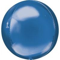 Folienballon Kugel Orbz Filienkugel Ballon Heliumballon Silvester Party blau