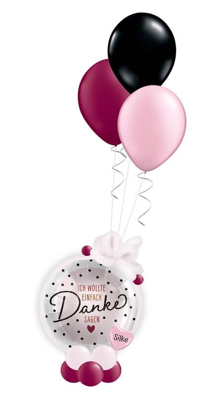 Ballon Luftballon Heliumballon Bouquet Geschenk Mitbringsel Danke sagen Dankeschön mit Namen Personalisierung Geschenkballon ich wollte einfach Danke sagen Frau Mann Versand Idee Party Feier Überraschung weil sich bedanken Versand Ballonpost