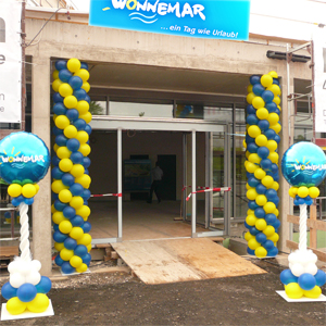 Girlande Luftballon Ballon Ballongirlande Dekoration Neueröffnung Wonnemar Marktheidenfeld Lieferservice