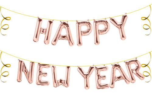 Folienballon Ballon Luftballon Silvester Neujahr Happy New Year Buchstaben Zahlen