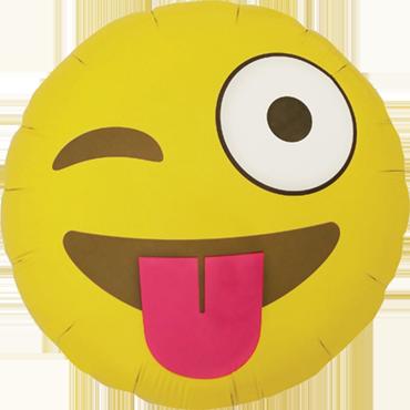 Emoji  Luftballon Ballon Folienballon Heliumballon Winking