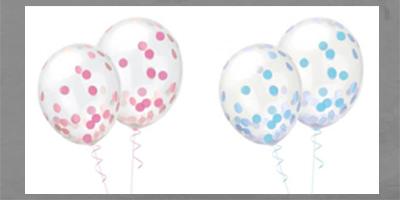 Konfetti Konfettiballon Ballon Latexballon clear durchsichtig Helium Heliumballon Geburtstag Kindergeburtstag Versand