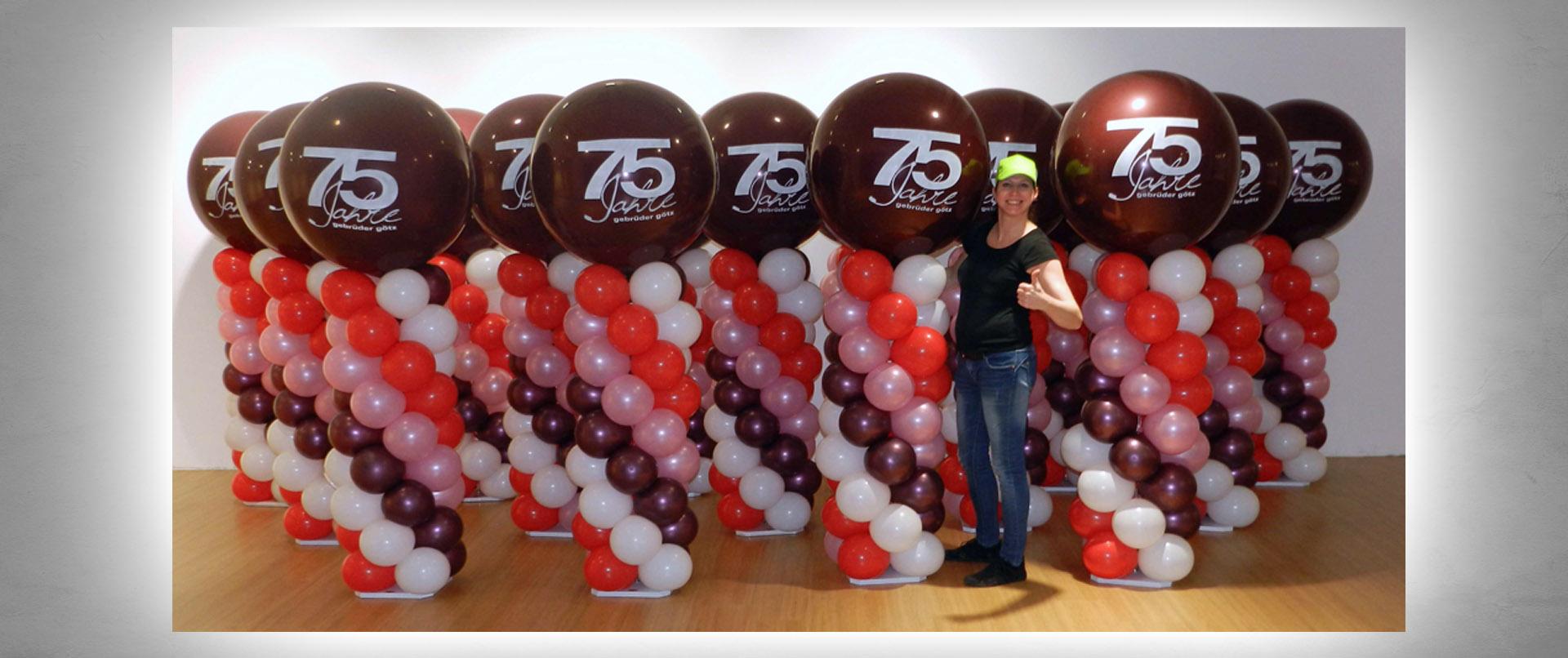 Luftballon-Dekoration Jubiläum