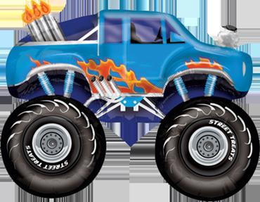 Truck Monster Monstertruck Luftballon Ballon Folienballon Geschenk Junge Geburtstag Geburtstagsparty Feier Überraschung Helium Versand Kindergeburtstag