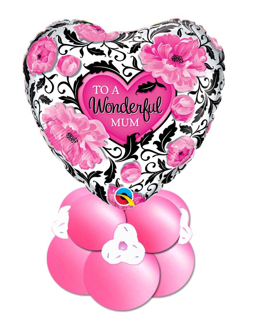 Ballon Folienballon Geschenkballon Muttertag alles Liebe Tochter Herz personalisiert Name Mum elegant