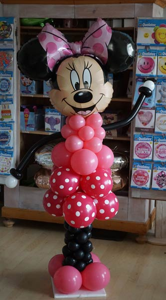 Helium Folienballon Disney Micky Mus mit Minnie lesen Buch Einschulung Geschenk