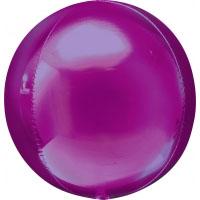 Folienballon Kugel Orbz Filienkugel Ballon Heliumballon Silvester Party pink