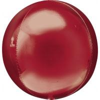 Folienballon Kugel Orbz Filienkugel Ballon Heliumballon Silvester Party rot