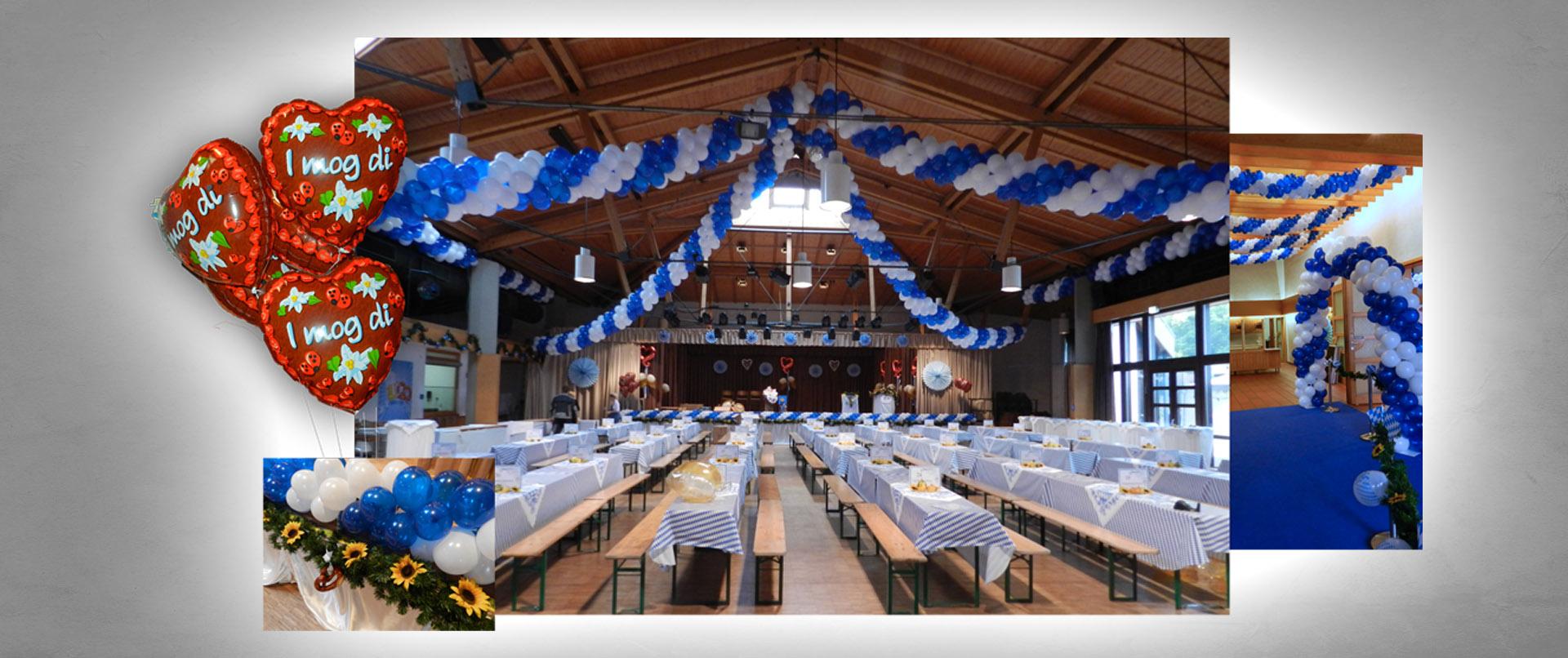 Luftballon-Dekoration Oktoberfest Margarethenhalle Margetshöchheim