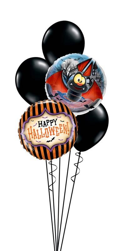Folienballon Luftballon Ballon Happy Halloween Monster Bouquet Strauß Überraschung Mitbringsel Versand Helium Fledermaus