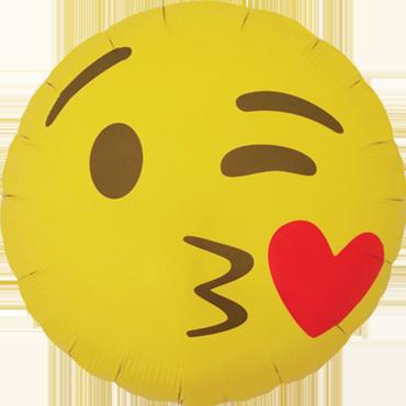 Emoji  Luftballon Ballon Folienballon Heliumballon Kissing Heart