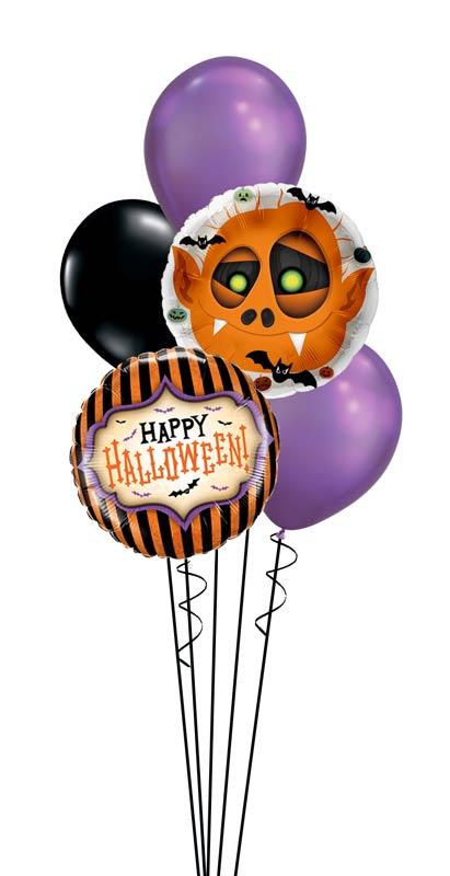Folienballon Luftballon Ballon Happy Halloween Monster Bouquet Strauß Überraschung Mitbringsel Versand Helium