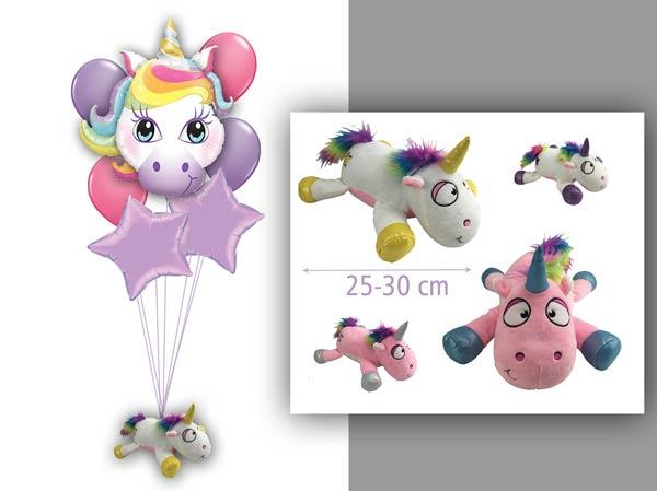 ballon Geschenke Luftballon Überraschung personalisiert mit Plüschtier Unicorn Einhorn glitzer Heliumballon Bouquet Mädchen Kindergeburtstag