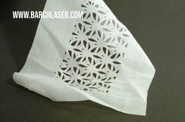 Corte de tela con maquina laser CO2