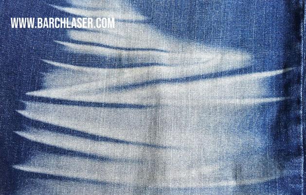 Grabado de tela jean con laser CO2