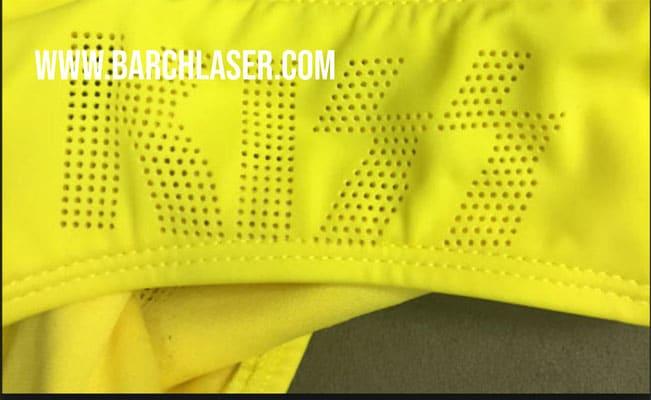 Laser CO2 cortando tela