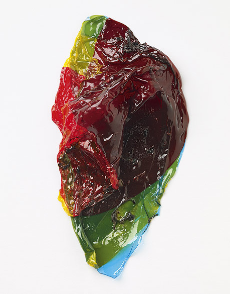 o.T. (F 13-2009), Colored self-adhesive films, ca. 22×12×3,5cm