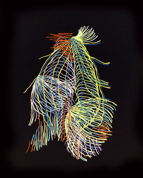 o.T. (PZ 02-2013), Oil pastel on cardboard on Aludibond, Diasec, 98,5×79,5cm