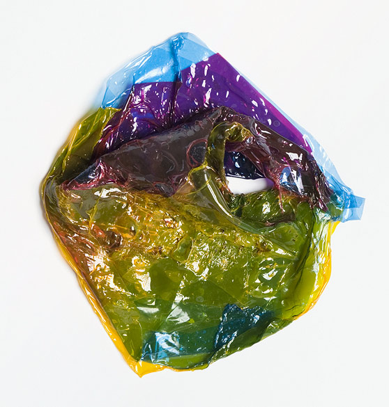 o.T. (F 28-2012), Colored self-adhesive films, ca. 17×16×5cm