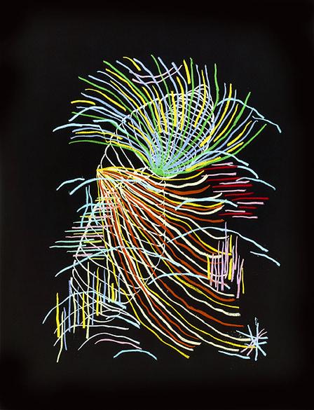 o.T. (PZ 10-2013), Oil pastel on cardboard on, Aludibond, Diasec, 98,5×75,5cm