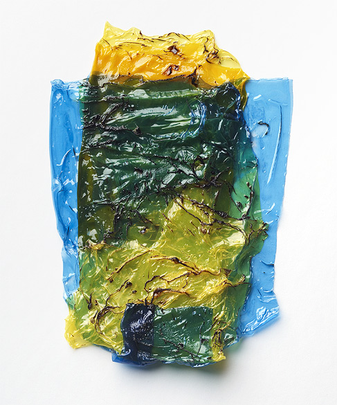 o.T. (F 17-2009), Colored self-adhesive films, ca. 21×15cm