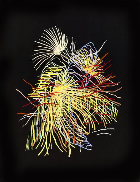 o.T. (PZ 07-2013), Oil pastel on cardboard on Aludibond, Diasec, 98,5×75,5cm