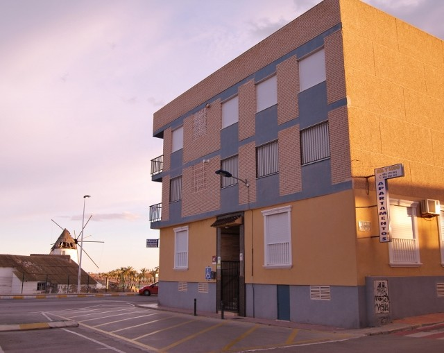Fachada Apartamentos Sol y Lodo vista del Molino Quitín