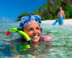 snorkelling of the beach .