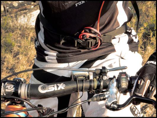 Rangement du cable avant une descente engagée.