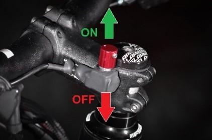 bouton de réglage du capteur de pédalier ON/OFF