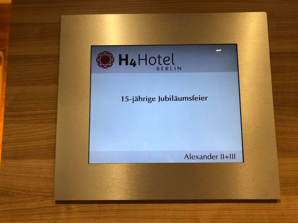Veranstaltungs-Schild im Hotel   © Offizieller Alexander Klaws Fanclub