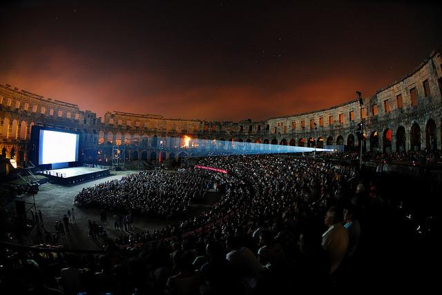 Jeden Sommer findet das Pula Filmfestival Statt.