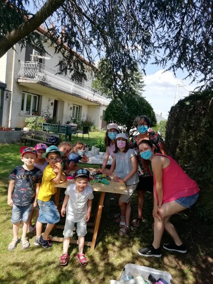 les enfants du periscolaire de laveline juin 2021