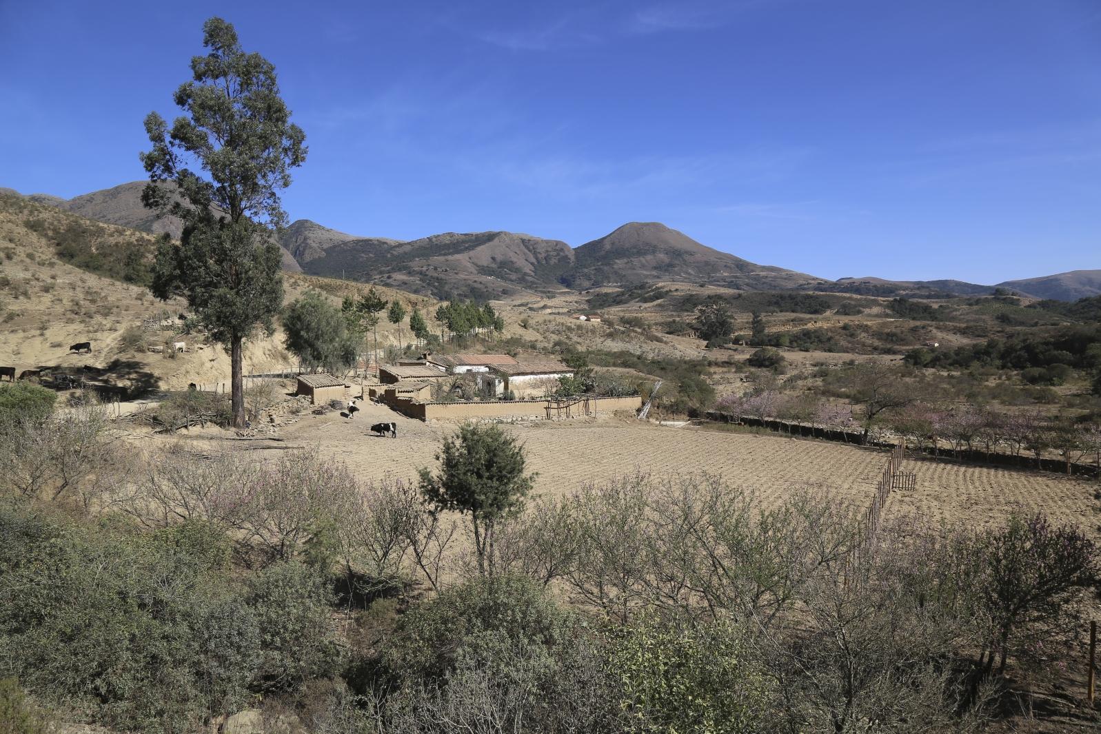 Landschaft zwischen Villa Serrano und Sucre