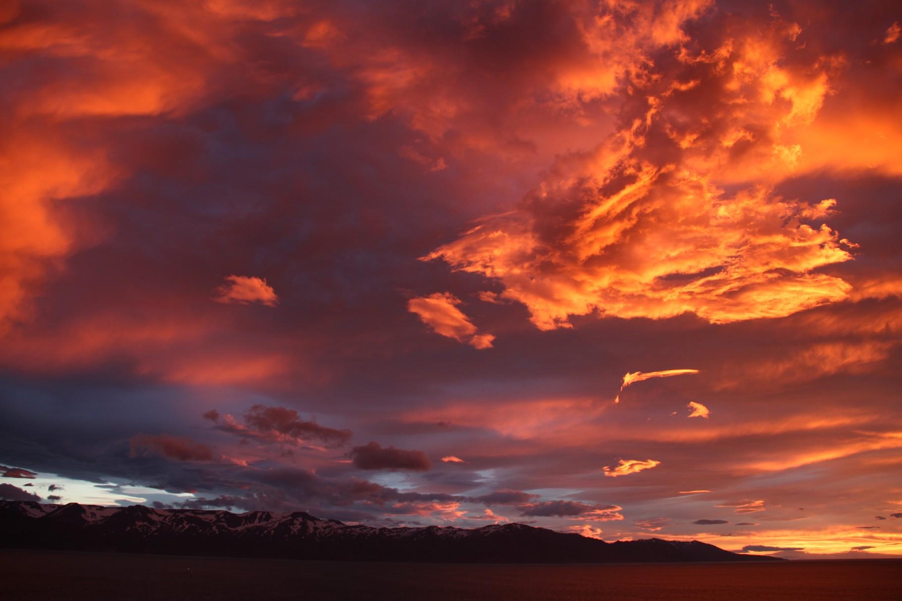 Sonnenuntergang Husavik