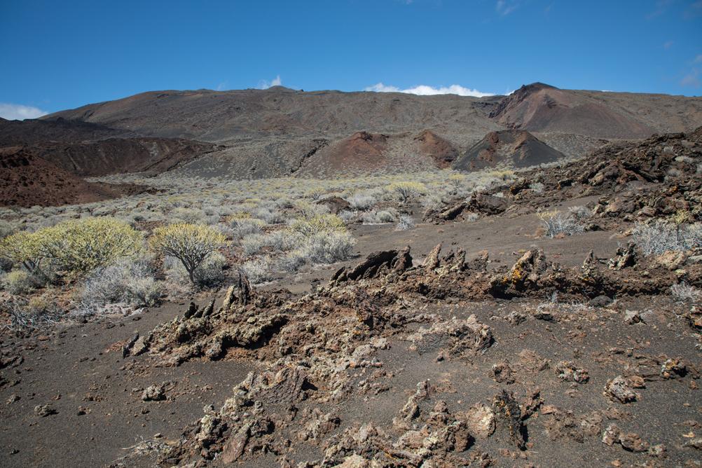 Vulkanlandschaft beim Faro de Orchilla